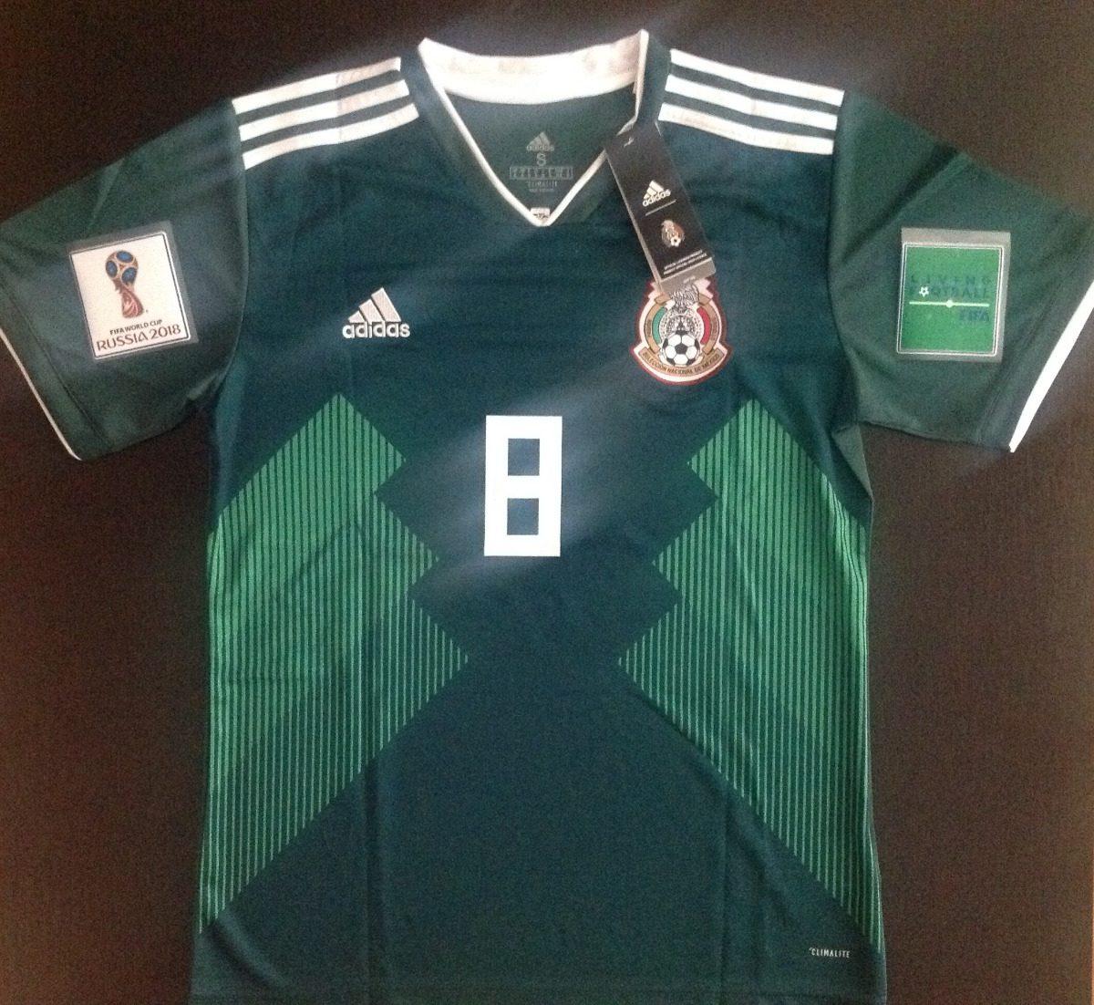 29eabe934d314 fabuloso jersey mexico mundial 2018 chucky lozano 8 parches. Cargando zoom.