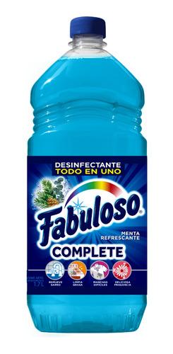 fabuloso limpiador líquido complete, menta refrescante 1.7 l