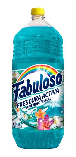 fabuloso limpiador liquido, mar fresco multiusos, 2 l