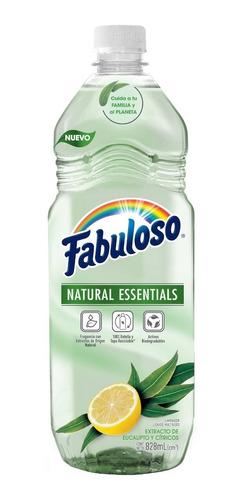 fabuloso limpiador líquido natural essentials, 828ml