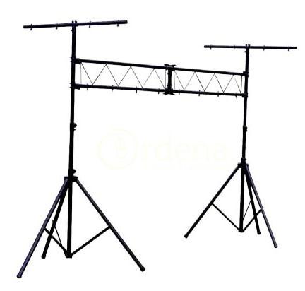 fabuloso stand para luces tipo porteria soporta 150 kg wow.