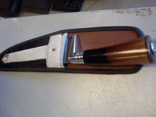 faca 08 polegadas cabo ponta de chifre