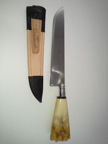 faca aço cirurgico gaúcho artesanal p/ churrasco, cozinha 9p