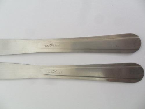 faca antiga de mesa peça de faqueiro wolffinox 2 unidades