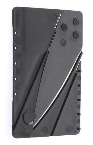 faca canivete cartão bancário dobrável lâmina de aço camping