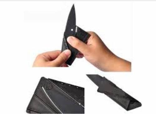 faca cartão canivete dobrável