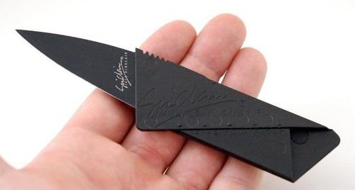 faca cartão canivete tático iain sinclair cardsharp na caixa