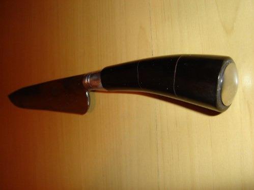 faca cascavel carbono cabo curvo em chifre curvo 4mm espessu