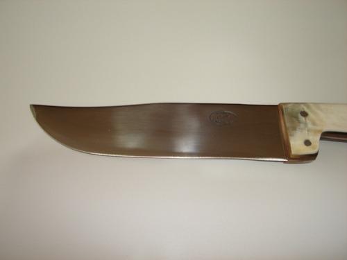 faca cascavel gaúcha 7p. churrasco cozinha inox chifre chato