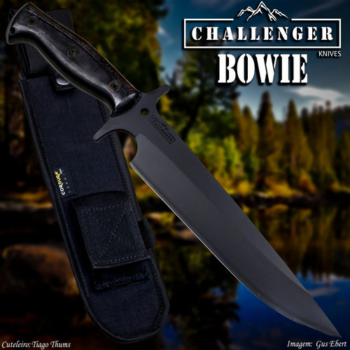 faca challenger bowie nova, original à pronta entrega em 12x