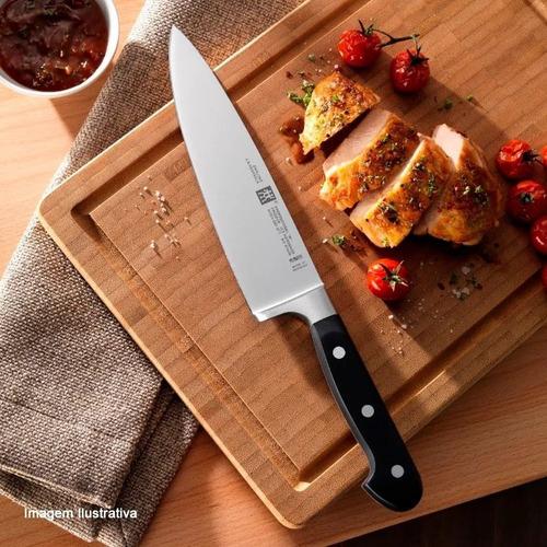 faca churrasco alemã professional s zwilling + afiador duplo