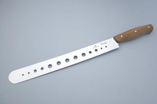 faca churrasco brisket com furos cabo de madeira