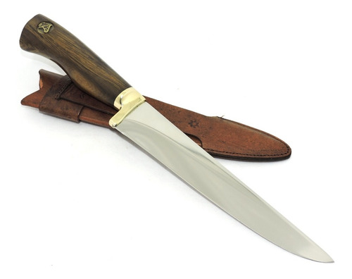 faca churrasco gaúcha, aço alemão 7 pol. gravação grátis