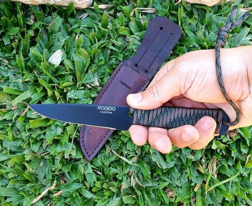 faca cutelaria elmo bushcraft fr1 aço carbono nova original