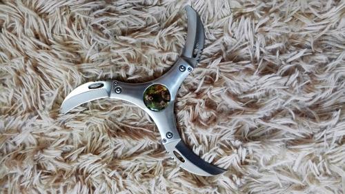 faca de arremesso três lâminas dobrável