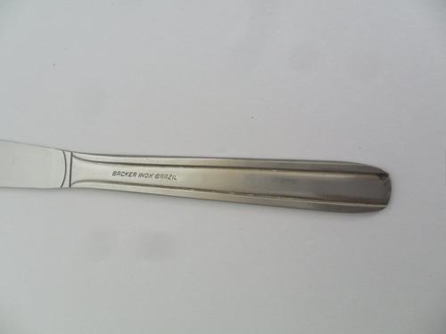 faca de mesa peça de faqueiro antiga backer inox brazil