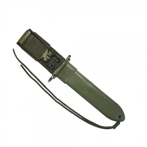 faca de sobrevivência baioneta m9 bélica verde full tang
