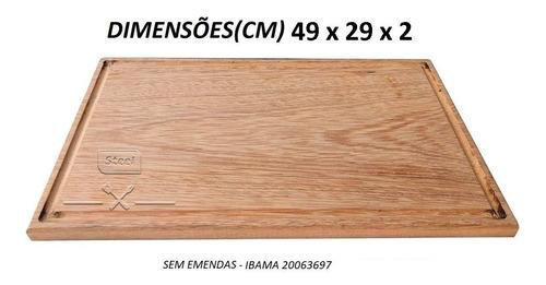 faca do chef 9 tábua grande madeira nobre mais kit churrasco