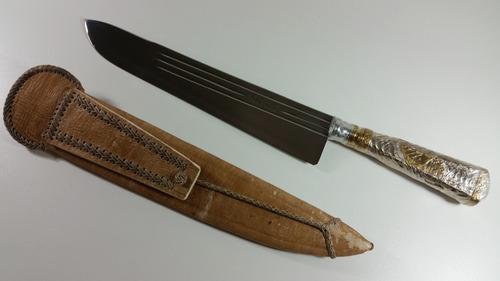 faca gaucha alpaca prata churrasco, cozinha tres listras 10
