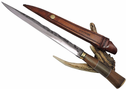 faca gaúcha artesanal de antiga lima ferreiro - 10 pol.