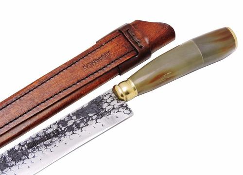 faca gaúcha / campeira de antiga grosa ferreiro - 11 pol