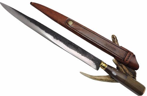 faca gaucha, campeira de antiga lima - lâmina 32 cm.
