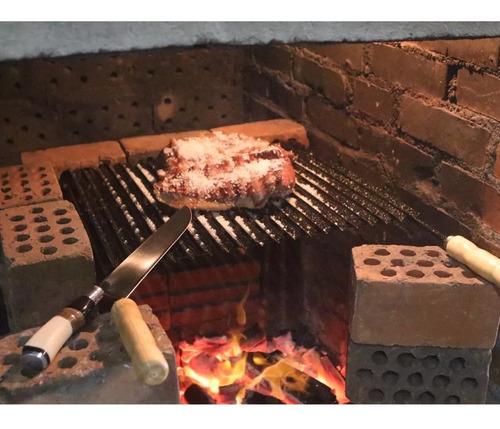 faca gaúcha churrasco 8  inox cabo curvo chifre madeira osso