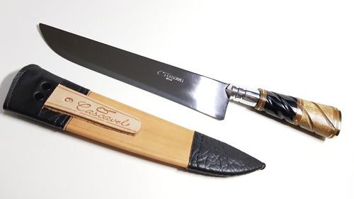faca gaúcha churrasco aço cirurgi chifre osso cascavel 32/9
