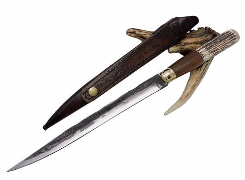 faca gaúcha forjada - antiga lima 9 polegadas