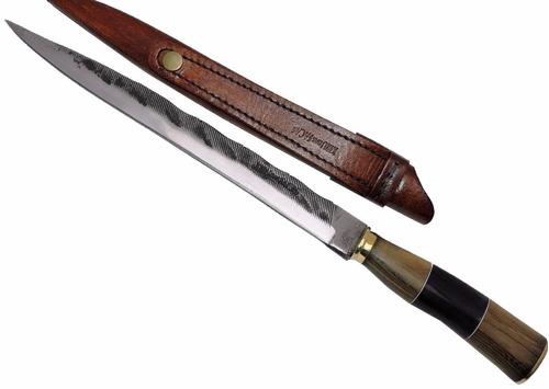 faca gaúcha forjada - antiga lima kuster 10 pol.