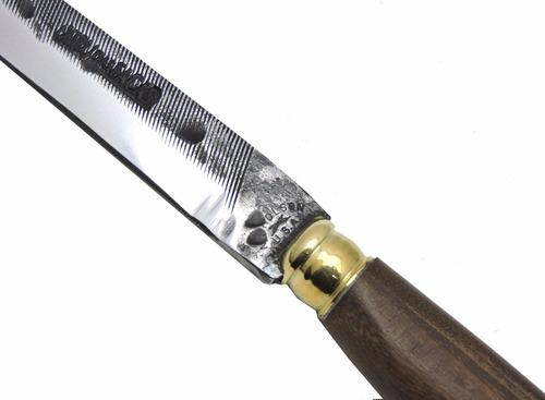 faca gaúcha forjada antiga lima nicholson c/ bainha - 10 pol