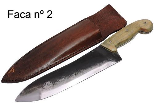 faca gaúcha forjada antiga mola de trem - 10 pol.
