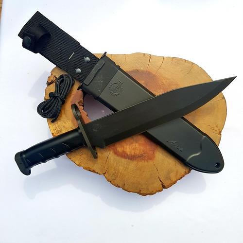 faca imbel amz black (bainha e cabo preto) e kit manutenção