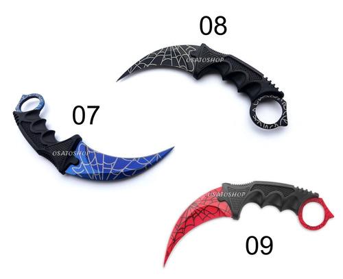 faca karambit cs go afiada colorido coleção a escolha !