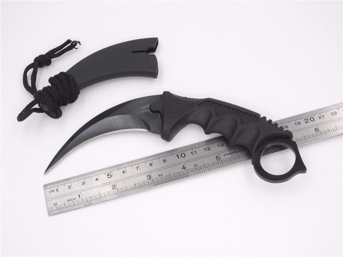 faca karambit cs go black preta afiado smith & wesson