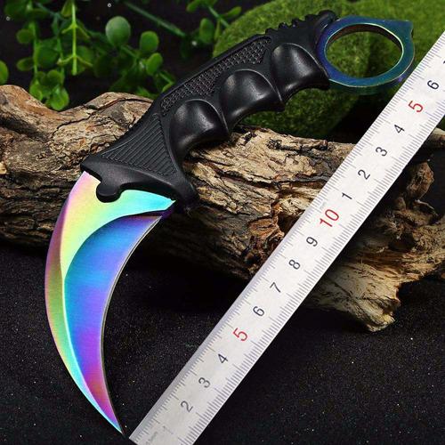 faca karambit cs go multi-color hawk -combate tática -afiado