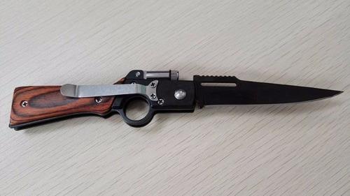 faca led canivete rifle aço funcional corte defesa pessoal