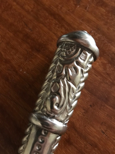 faca ñ antiga corneta 06 listras cabo de alpaca