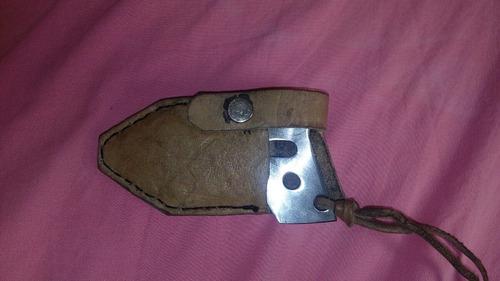 faca para defesa pessoal modelo push dager com bainha artesa