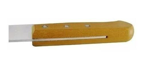 faca peixeira aço carbono cabo madeira 5polegadas tramontina