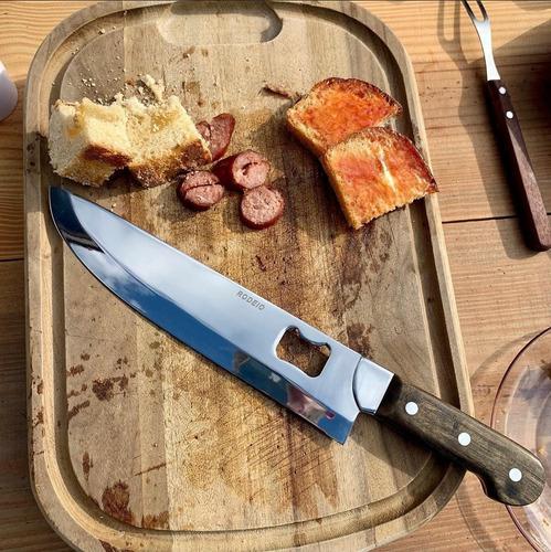 faca picanheira churrasco rodeio com abridor aço inox 10 pol