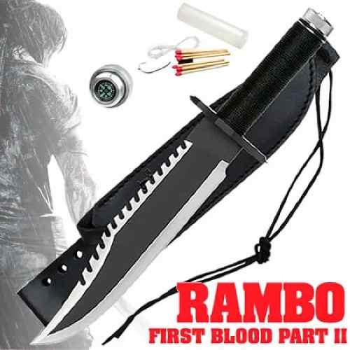 faca rambo first blood kit sobrevivencia bussola bainha