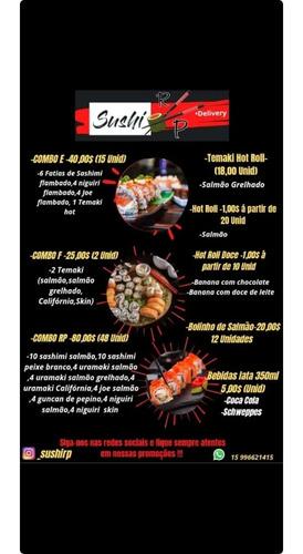 faça seu pedido sushi rp via ifood ou whatsapp