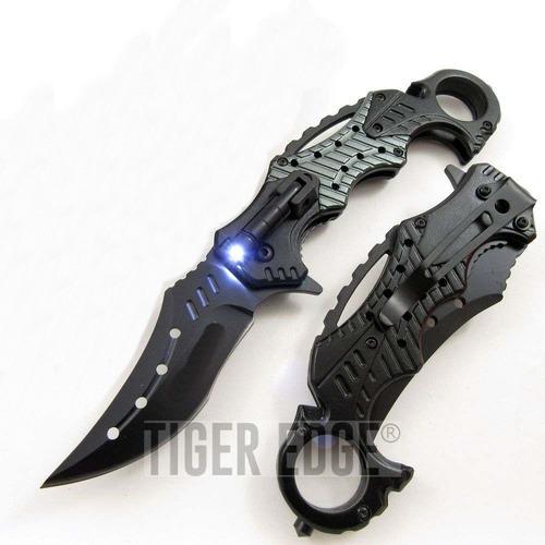 faca tática canivete karambit black gray com lanterna tatica
