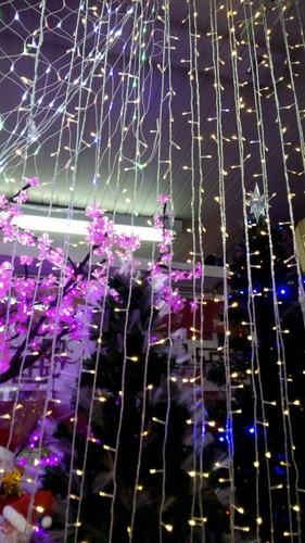 faça vc mesmo: cortina led p/ eventos: cordão com 10m branco