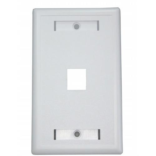 face plate con caja rectangular 1 2 o4 jacks paquete de 5 pz