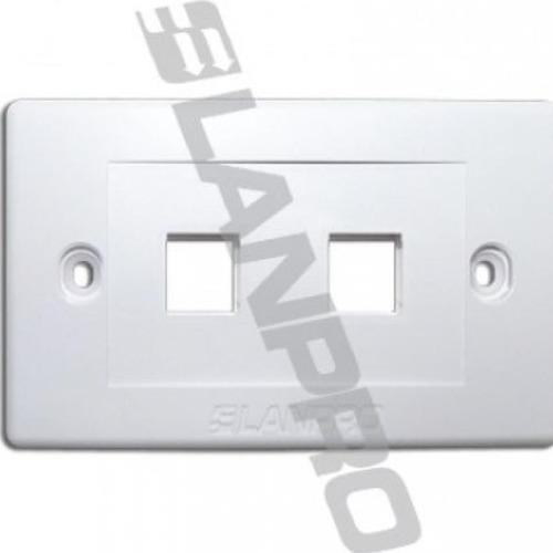 faceplace lampro doble original tapa jack coupler rj45 2x4