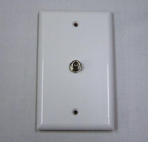 faceplate coaxial de 1 toma conector hembra para señal de tv