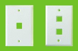 faceplate standard (keystone jacks) de 1 posicion - blanco