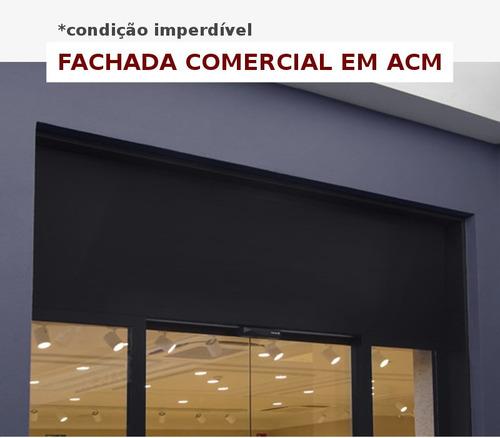 fachada comercial em acm (comunicação visual)
